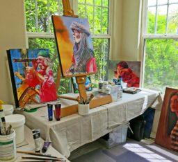 tim tompkins paint history art studio